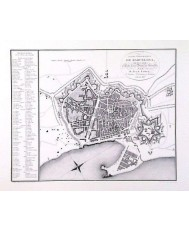 BARCELONA, PLANO TOPOGRAFICO AÑO 1807