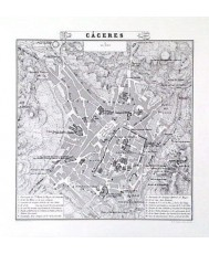 PLANO DE LA CIUDAD DE CACERES 1853