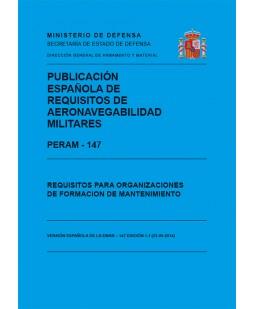 PERAM – 147. REQUISITOS PARA ORGANIZACIONES DE FORMACIÓN DE MANTENIMIENTO. EDICIÓN 1.1