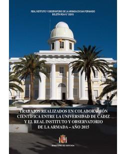 BOLETÍN ROA 03/2015.- TRABAJOS REALIZADOS EN COLABORACIÓN CIENTÍFICA, ENTRE LA UNIVERSIDAD DE CÁDIZ Y EL REAL INSTITUTO Y OBSERVATORIO DE LA ARMADA