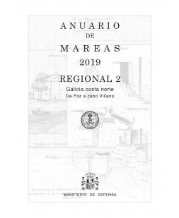 ANUARIO DE MAREAS REGIONAL 2. GALICIA COSTA NORTE. DE FOZ A CABO VILLANO. 2019