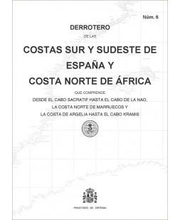 Derrotero de las costas sur y sudeste de España y costa norte de África. Núm. 6. 4ª edición 2019