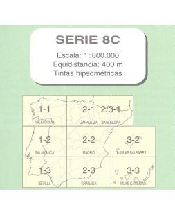 MAPA MILITAR DE ESPAÑA. Serie 8C