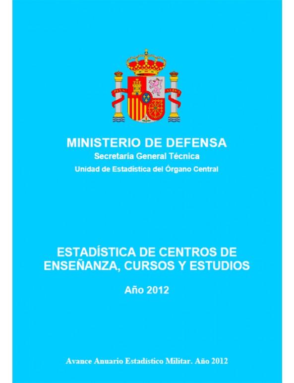 Estad stica de centros de ense anza cursos y estudios 2012 for Ministerio de ensenanza