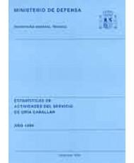 ESTADÍSTICA DE ACTIVIDADES DEL SERVICIO DE CRÍA CABALLAR 1999