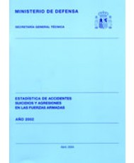 ESTADÍSTICA DE ACCIDENTES, SUICIDIOS Y AGRESIONES EN LAS FUERZAS ARMADAS 2002
