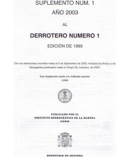 DERROTERO NÚMERO 1. SUPLEMENTO NÚM. 1