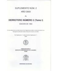 DERROTERO NÚMERO 2 (Tomo I). SUPLEMENTO NÚM. 2