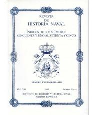 REVISTA DE HISTORIA NAVAL. ÍNDICE GENERAL (NÚMEROS DEL 51 AL 75)