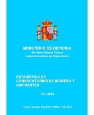 ESTADÍSTICA DE CONVOCATORIAS DE INGRESO Y ASPIRANTES 2014
