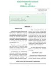 BOLETÍN EPIDEMIOLÓGICO DE LAS FUERZAS ARMADAS. VOL. 15. Nº 178. AGOSTO 2008