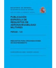 PERAM – 145. REQUISITOS PARA ORGANIZACIONES DE MANTENIMIENTO