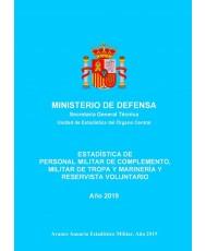 Estadística de personal militar de complemento, militar de tropa y marinería y reservista voluntario 2019