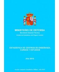 ESTADÍSTICA DE CENTROS DE ENSEÑANZA, CURSOS Y ESTUDIOS 2015