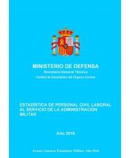 ESTADÍSTICA DE PERSONAL CIVIL LABORAL AL SERVICIO DE LA ADMINISTRACIÓN MILITAR 2016