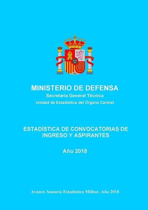 ESTADÍSTICA DE CONVOCATORIAS DE INGRESO Y ASPIRANTES 2018