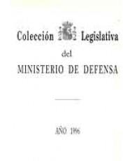 COLECCIÓN LEGISLATIVA DEL MINISTERIO DE DEFENSA. AÑO 1996