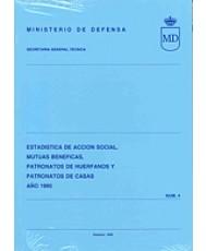 ESTADÍSTICA DE ACCIÓN SOCIAL, MUTUAS BENÉFICAS, PATRONATO DE HUÉRFANOS Y PATRONATO DE CASAS 1990, ESTADÍSTICA DE
