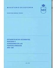 ESTADÍSTICA DE ACCIDENTES, SUICIDIOS Y AGRESIONES EN LAS FUERZAS ARMADAS 1991