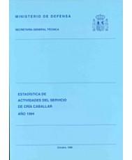ESTADÍSTICA DE ACTIVIDADES DEL SERVICIO DE CRÍA CABALLAR 1994