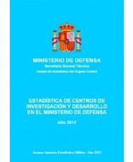 ESTADÍSTICA DE CENTROS DE INVESTIGACIÓN Y DESARROLLO EN EL MINISTERIO DE DEFENSA 2012