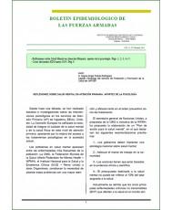 BOLETÍN EPIDEMIOLÓGICO DE LAS FUERZAS ARMADAS VOL. 21 Nº 248 JUNIO 2014