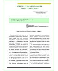 BOLETÍN EPIDEMIOLÓGICO DE LAS FUERZAS ARMADAS VOL. 21 Nº 250 AGOSTO 2014