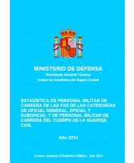 ESTADISTICA DE PERSONAL MILITAR DE CARRERA DE LAS FAS DE LAS CATEGORÍAS DE OFICIAL GENERAL, OFICIAL Y SUBOFICIAL Y DE PERSONAL MILITAR DE CARRERA DE LA GUARDIA CIVIL 2014