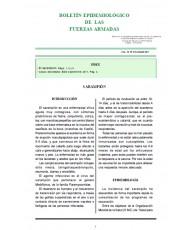 BOLETÍN EPIDEMIOLÓGICO DE LAS FUERZAS ARMADAS. VOL. 18. Nº 216. OCTUBRE 2011