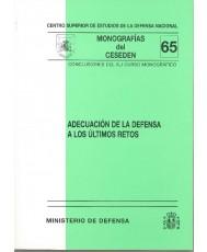 ADECUACIÓN DE LA DEFENSA A LOS ÚLTIMOS RETOS (XLI CURSO MONOGRÁFICO)