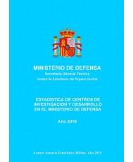 Estadística de centros de investigación y desarrollo en el Ministerio de Defensa 2019