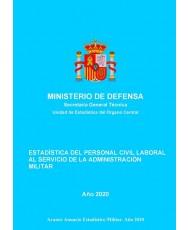 Estadística del personal civil laboral al servicio de la Administración Militar 2020
