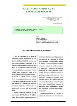 BOLETÍN EPIDEMIOLÓGICO DE LAS FUERZAS ARMADAS