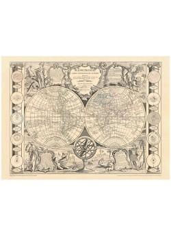 LÁMINA MAPPE-MONDE. CARTE UNIVERSELLE DE LA TERRE 1817 (J.B. NOLIN)