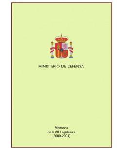 MEMORIA DE LA VII LEGISLATURA, 2000-2004