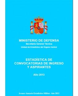 ESTADÍSTICA DE CONVOCATORIAS DE INGRESO Y ASPIRANTES 2013