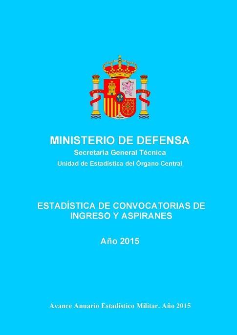 ESTADÍSTICA DE CONVOCATORIAS DE INGRESO Y ASPIRANTES 2015