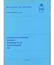 ESTADÍSTICA DE ACCIDENTES, SUICIDIOS Y AGRESIONES EN LAS FUERZAS ARMADAS 1988