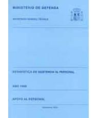 ESTADÍSTICA DE ASISTENCIA AL PERSONAL. APOYO AL PERSONAL 1999