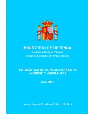 ESTADÍSTICA DE CONVOCATORIAS DE INGRESO Y ASPIRANTES 2016