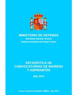 ESTADÍSTICA DE CONVOCATORIAS DE INGRESO Y ASPIRANTES 2012