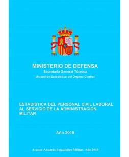 Estadística de personal civil laboral al servicio de la Administración Militar 2019